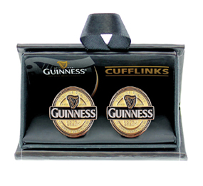 Guinness Label Cuff Links - Click Image to Close