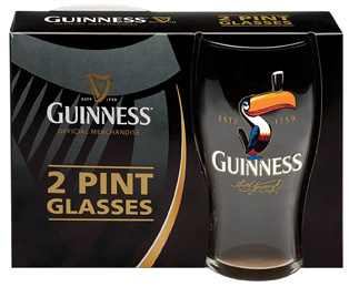 Guinness 2 Pack Toucan Pint Glasses