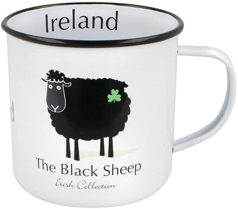 """The Black Sheep"" Enamel Mug from Ireland"