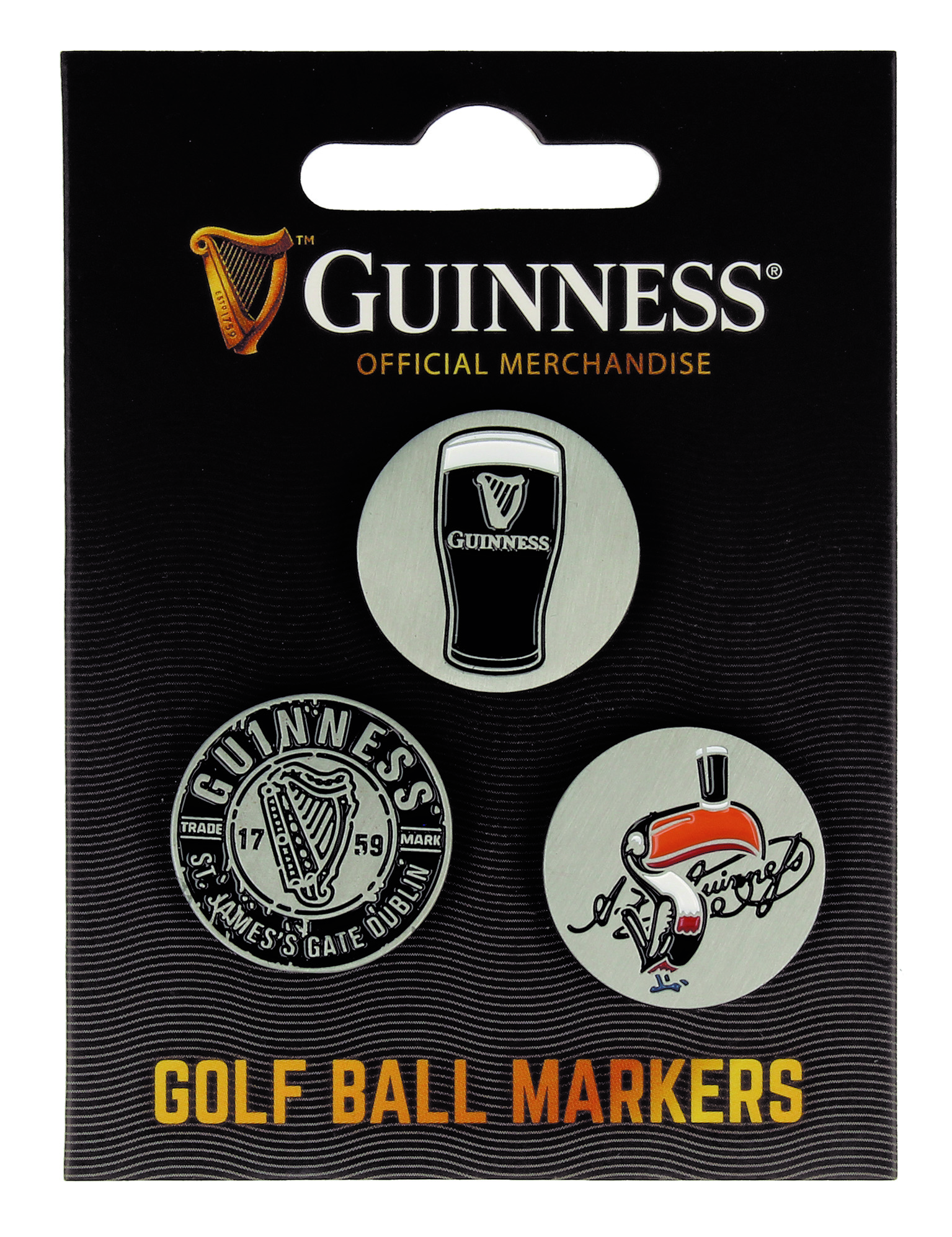 Guinness Golf Ball Markers (pack of 3)