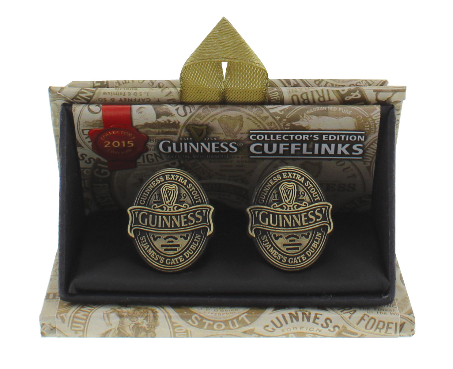 Guinness 2015 Collectors Cuff Links - Click Image to Close