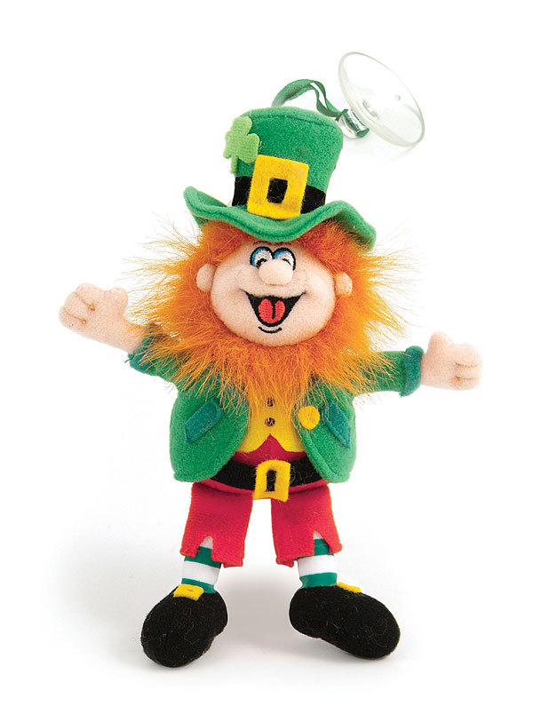 "Finnegan King of the Leprechauns Mascot 6"" high with suction"