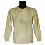 Aran knitted Wool Sweater - Classic design