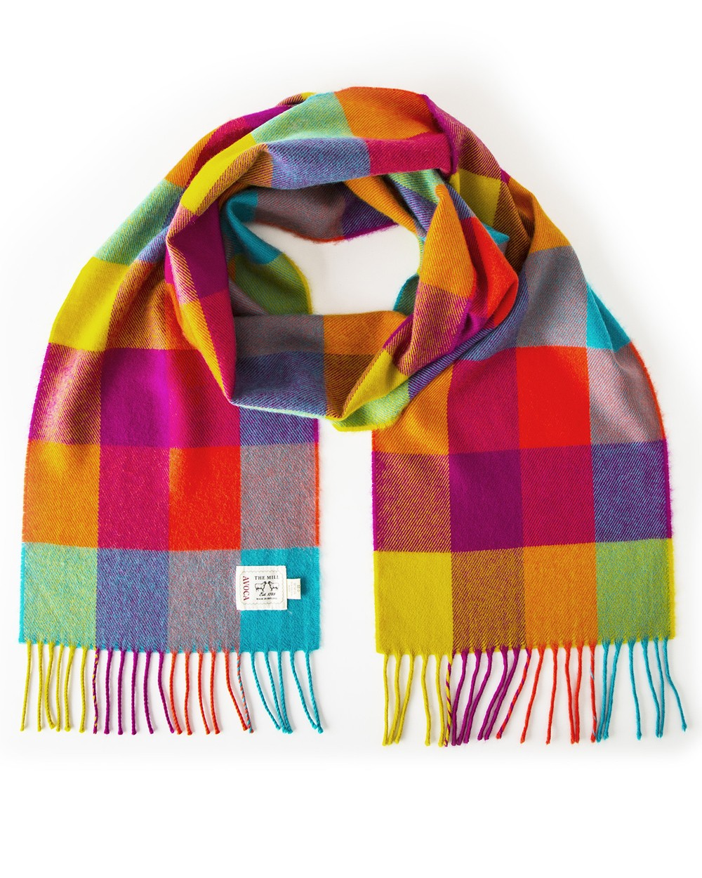 Avoca 100% Lambswool Scarf (Made in Ireland) Circus design