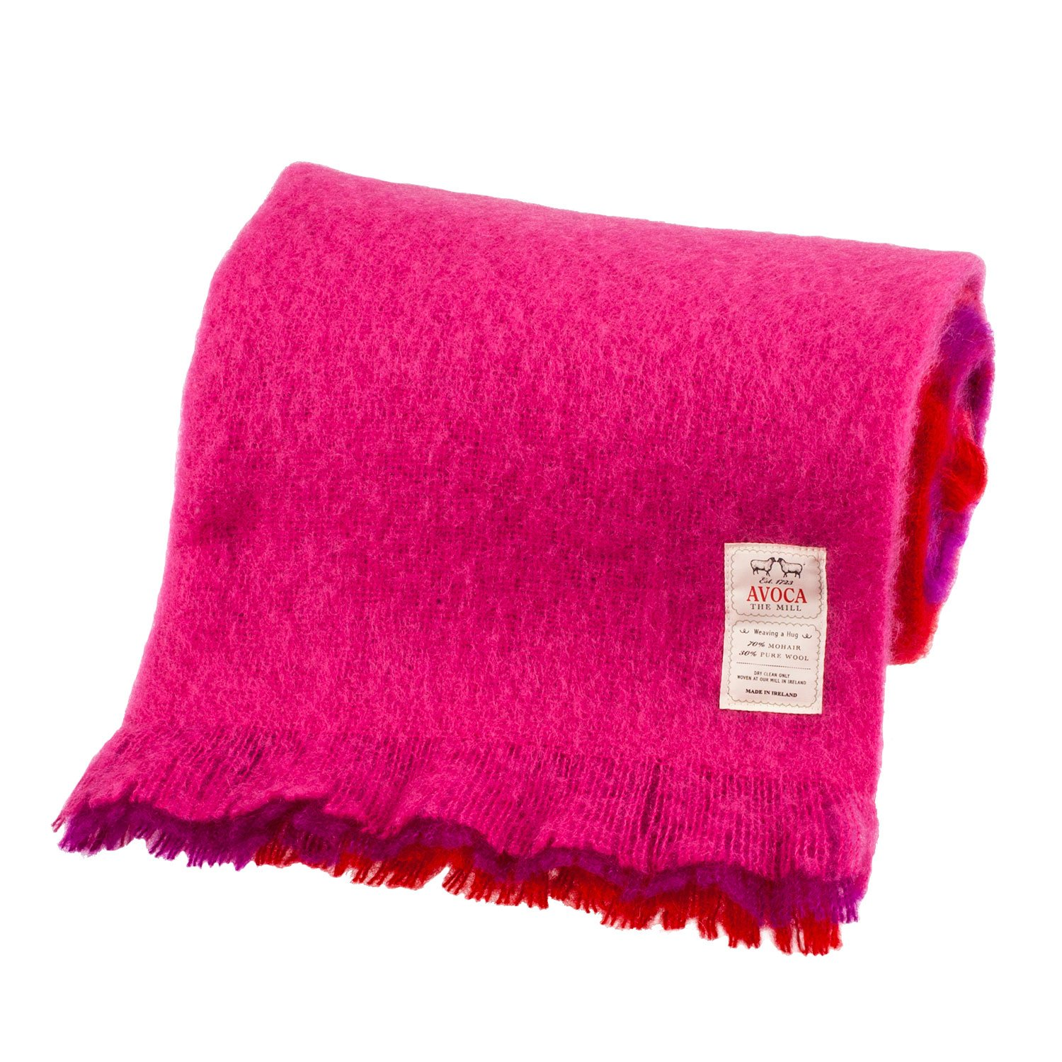 "Avoca Mohair Throw - Jazberry (56"" x 40"")"