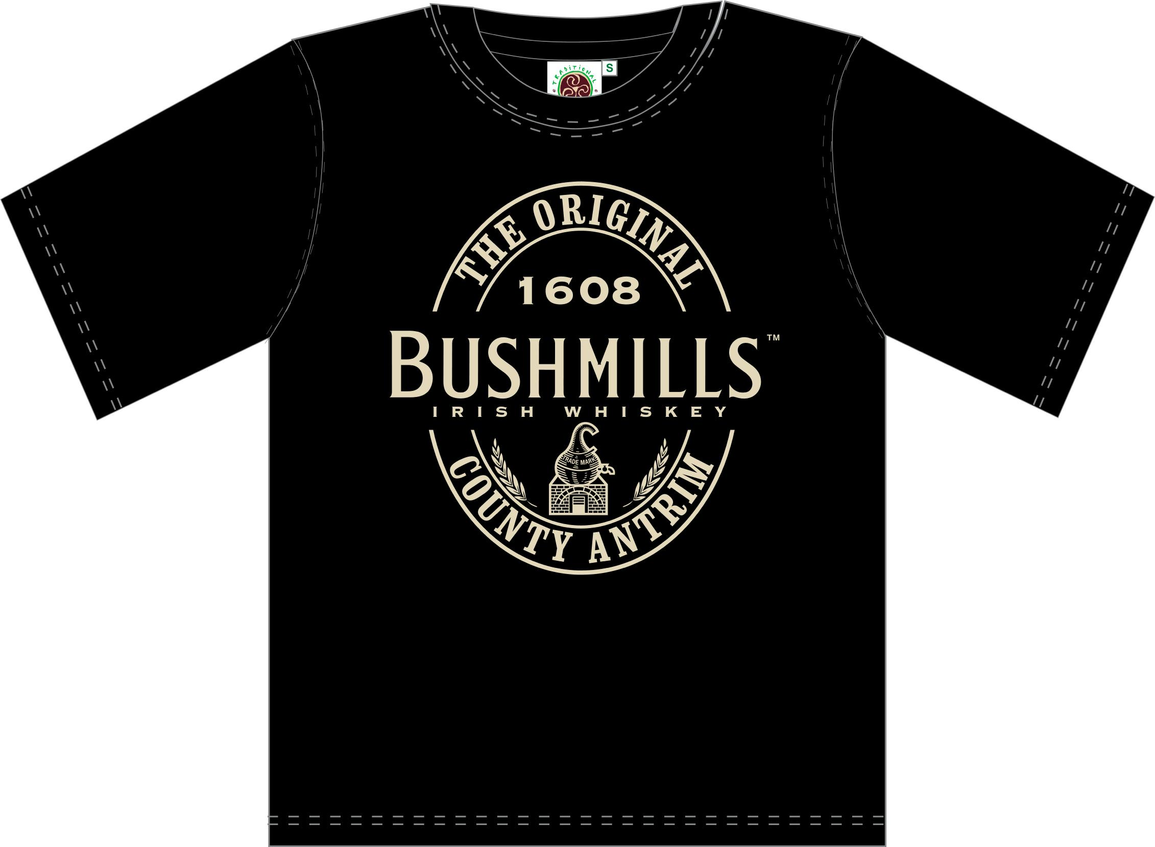 Bushmills Whiskey Black T Shirt (S-XXXL)