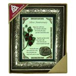Cold cast Bronze shadow box - Silver Anniversary