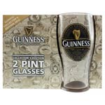 Guinness Pint Glass twin pack - 2012
