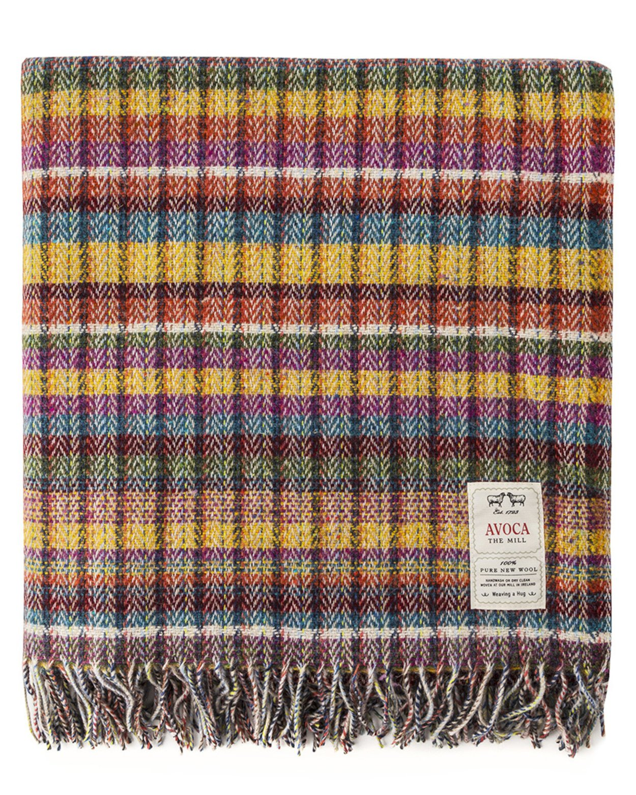 "Avoca Pure Lambswool Throw ""Century"" Design 56"" x 40"" & 56"" 72"""