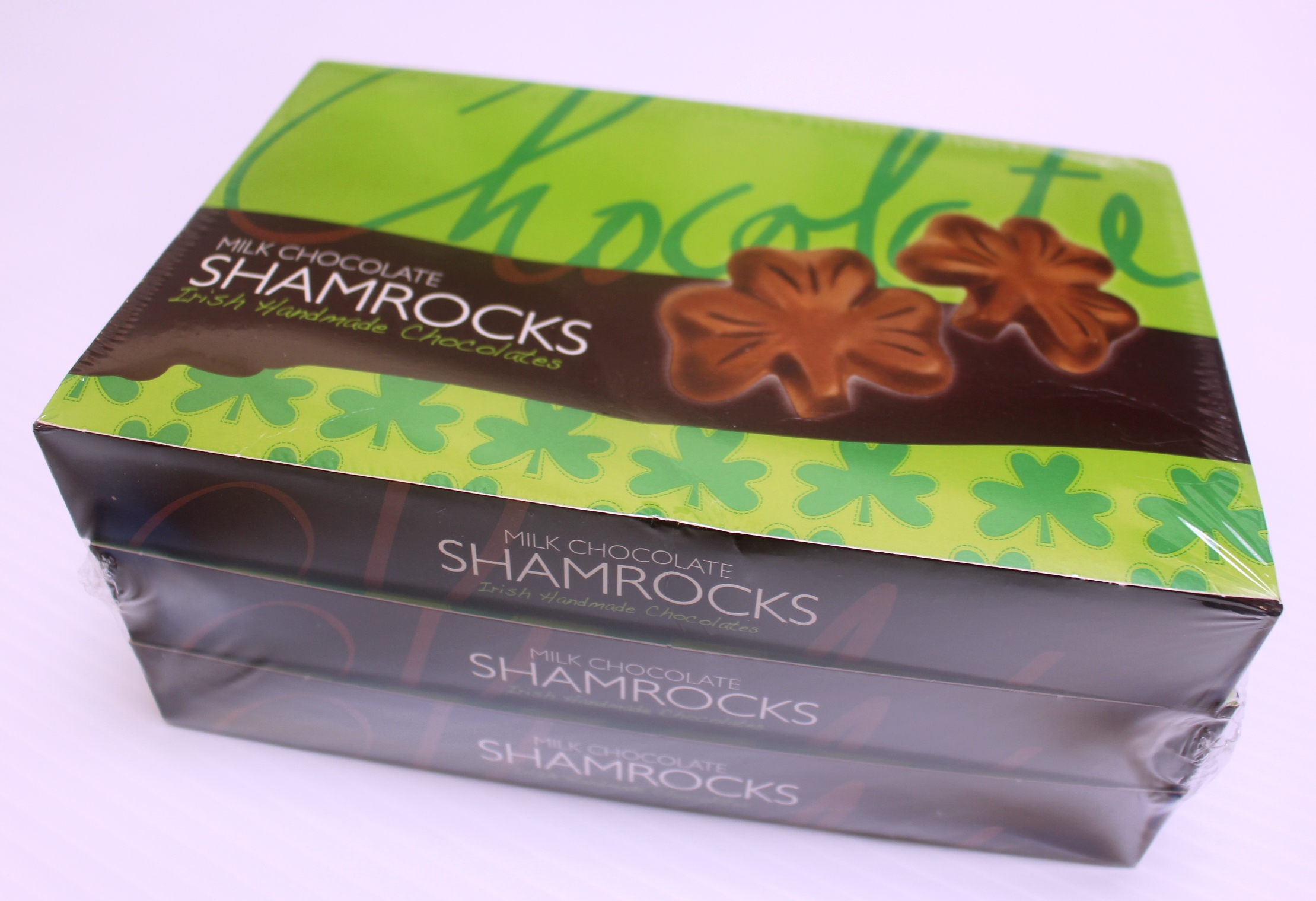 Chocolate Shamrocks (3 Boxes x 125g) Made in Ireland