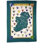 Irish County Crests tea-towel