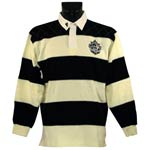Guinness Cream and Black Rugby Shirt