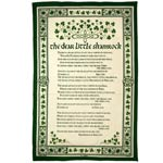 The dear little Shamrock tea-towel