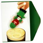 Finger puppet card – Paddy and Guinness