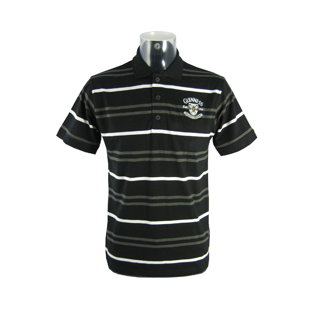 Guinness Black/Grey/White Polo (S - XXL)