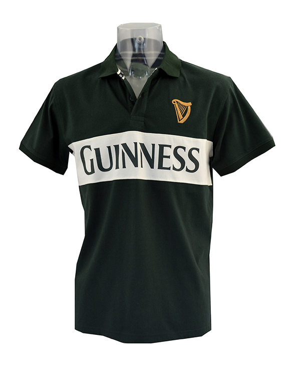 Guinness Bottle Harp Polo Shirt( S - XXL)