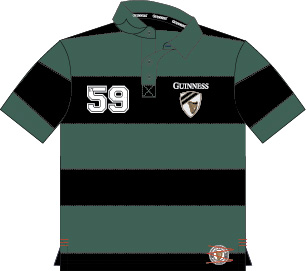 Guinness Green/Black Striped 59 Polo (S-XXL)