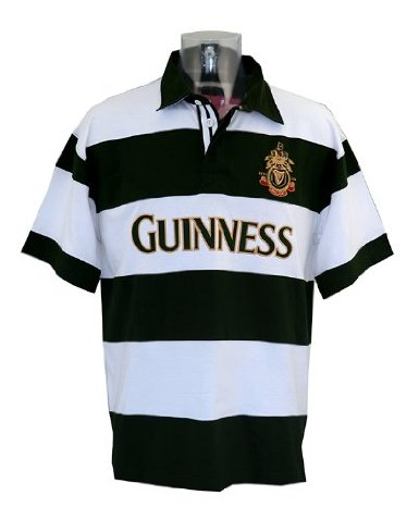 Bottle / White Guinness Crest Rugby Shirt