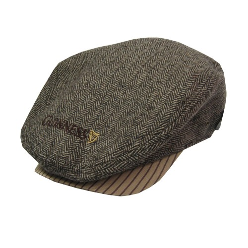 Brown/Tweed Guinness Flat Cap - Click Image to Close
