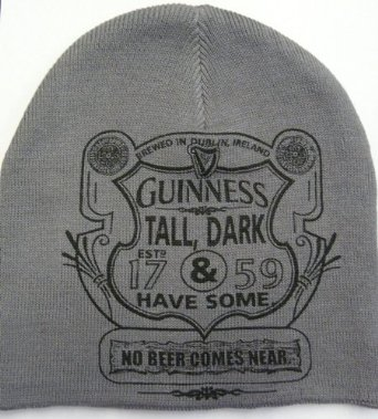 "Guinness Knit Hat - ""Tall Dark and Havesome"" design"