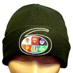 Black 6 Nations woolly hat