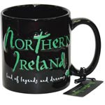 Northern Ireland embossed mug – black