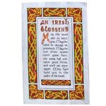An Irish blessing tea towel
