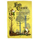 Irish Coffee Leprechaun tea towel