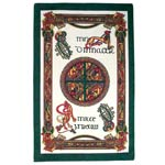 Celtic Dragons Irish tea towel