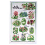 Irish wild flowers tea towel