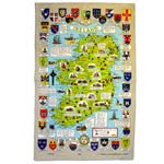 Historical map of Ireland tea towel