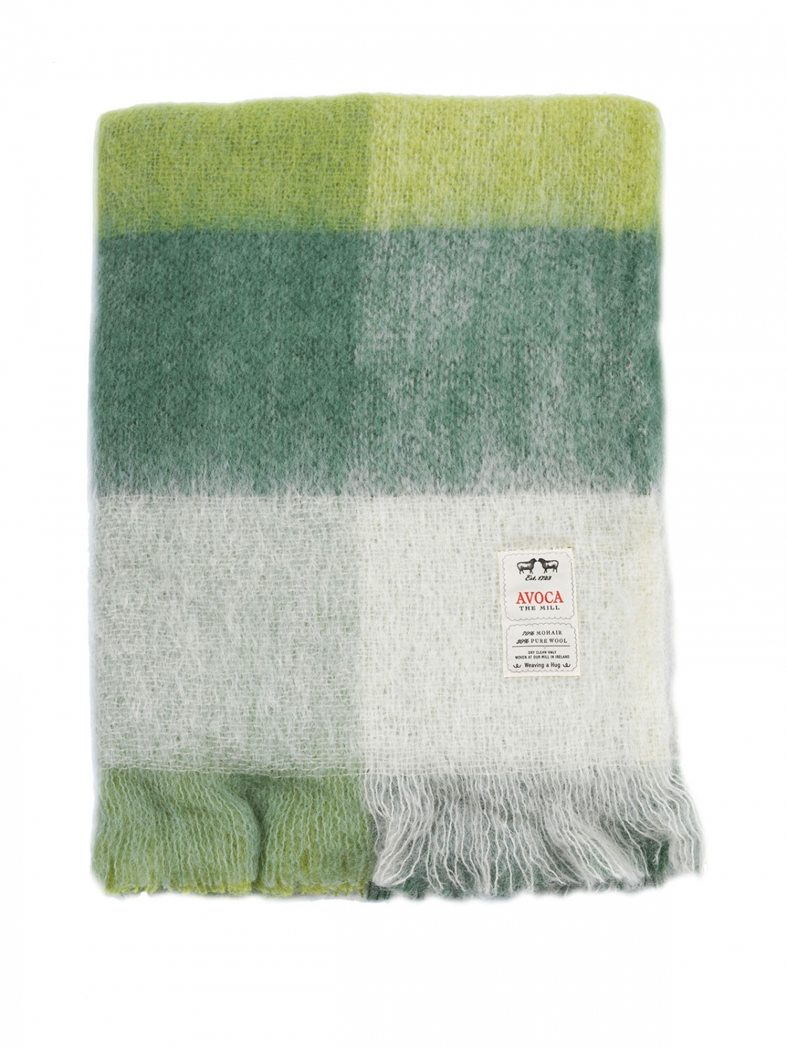 "Avoca Mohair Throw 56"" x 40"" Made in Ireland (M192)"