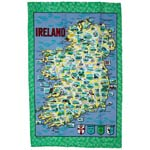 Map of Ireland Tea-towel