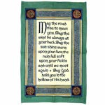 May the road rise to meet you tea-towel