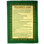 Murphy's Law tea-towel