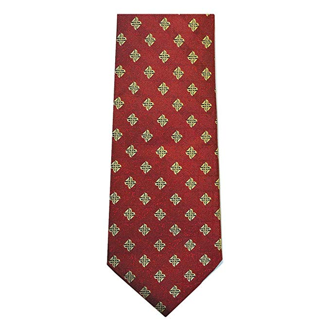 Patrick Francis – red Celtic origins silk tie