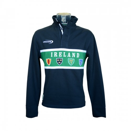 Lansdowne Navy Ireland Crest High Neck Top (S-XXL) - Click Image to Close
