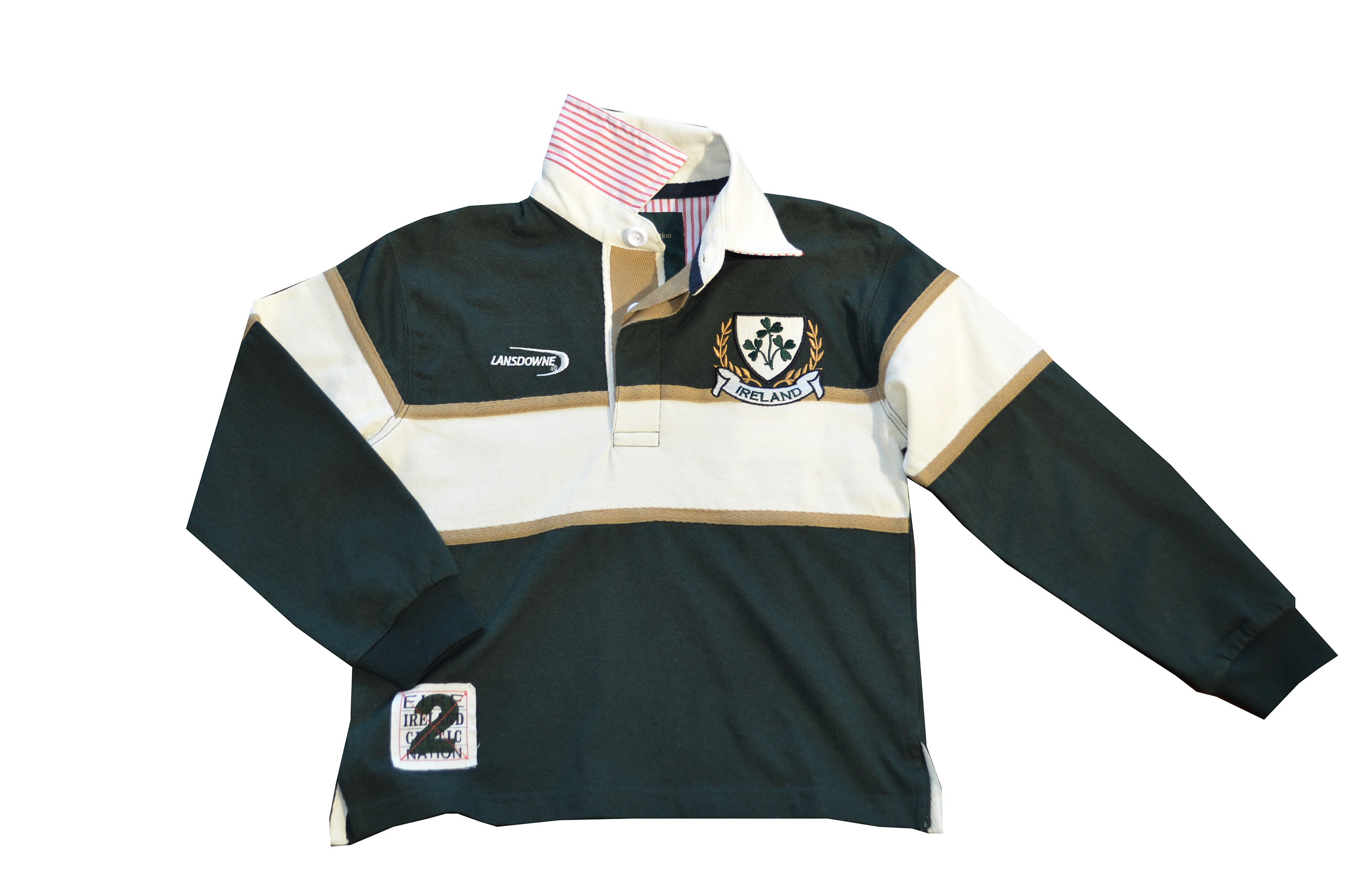 Three Shamrocks Rugby Shirt (Kids Age 6/12mths-11/12yrs)