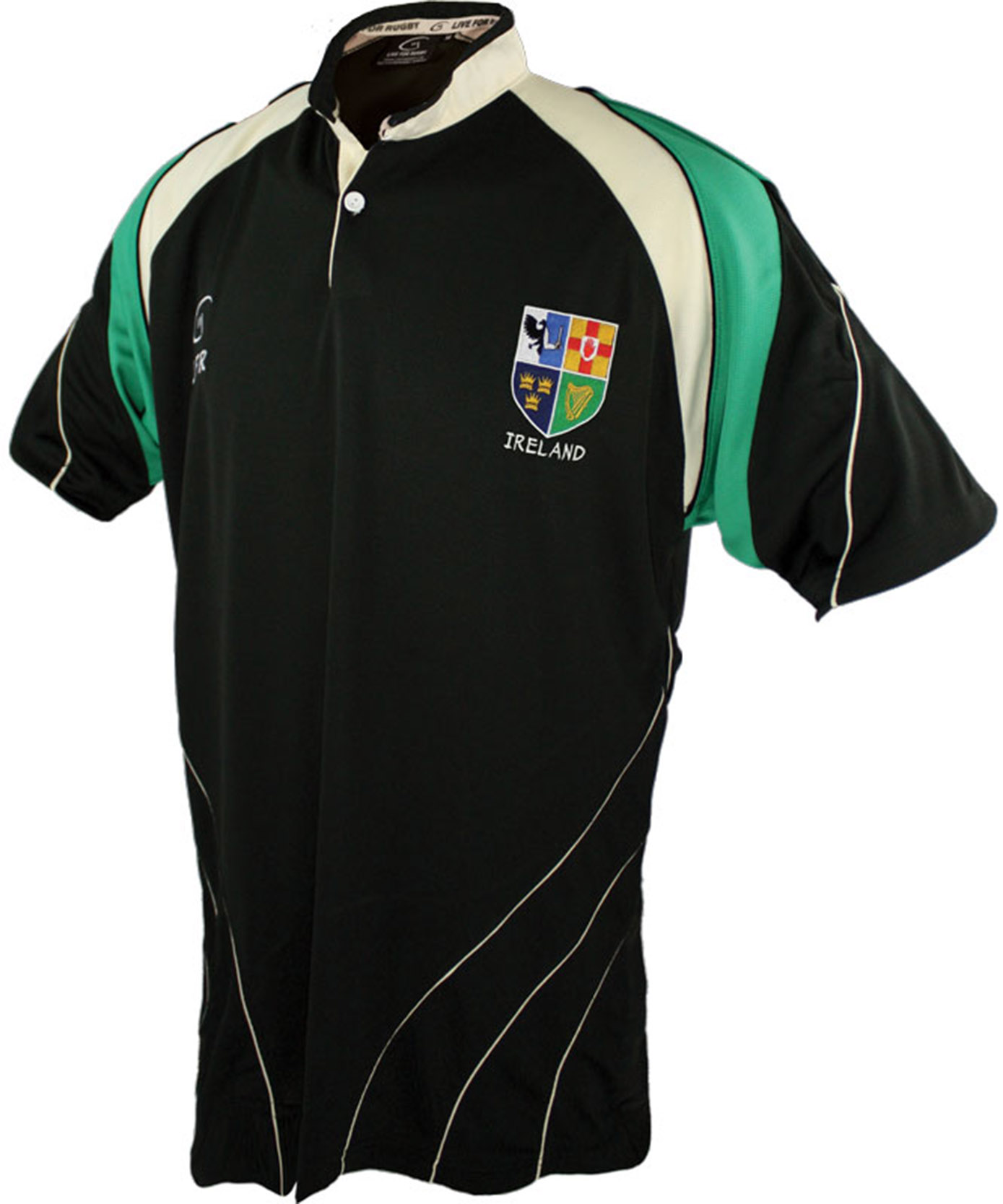 Ireland Four Provinces Breathable Rugby Shirt OLIVE (XS-XXXL) - Click Image to Close