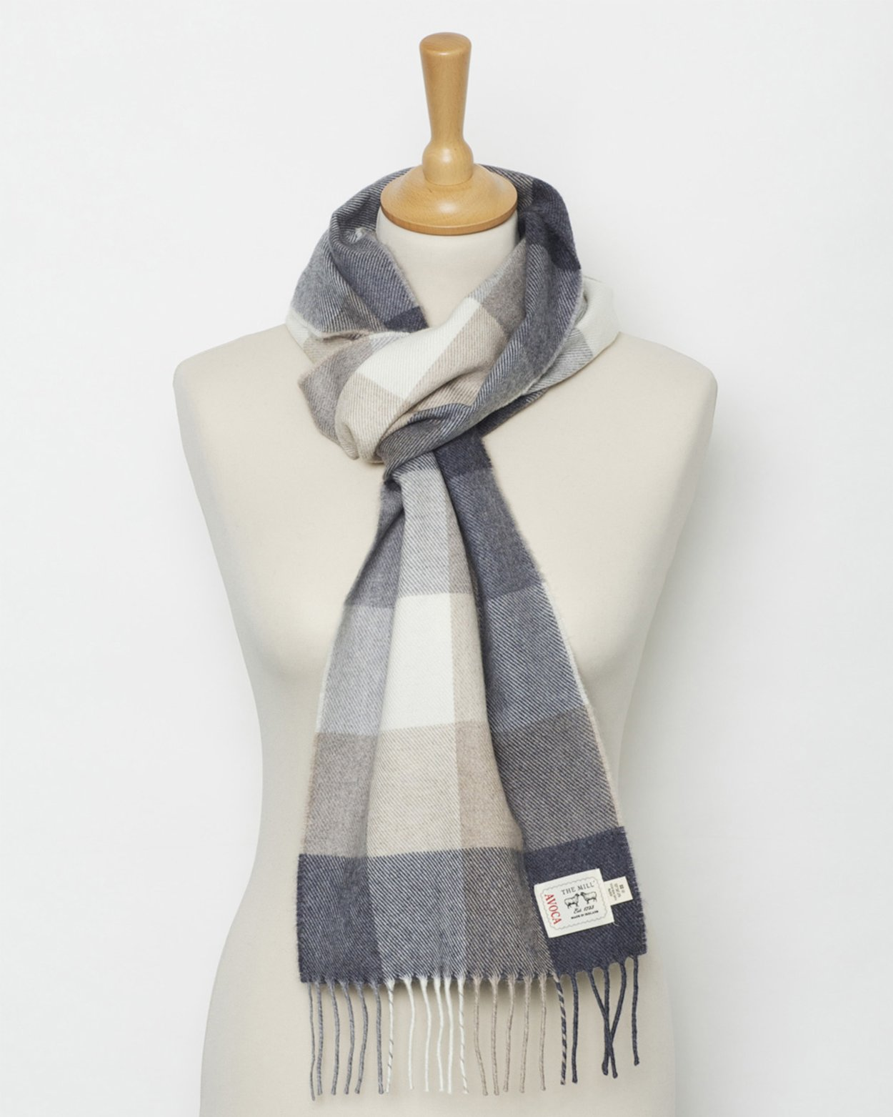 Avoca 100% Lambswool Scarf (Made in Ireland) Rome design