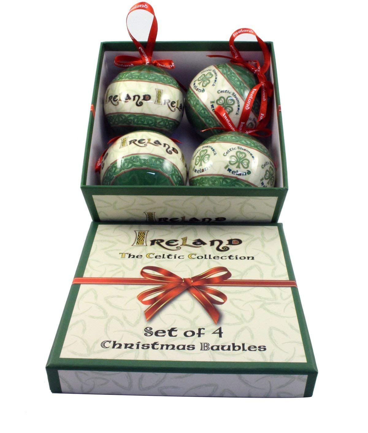 The Celtic Collection of 4 Christmas Baubles- Ireland