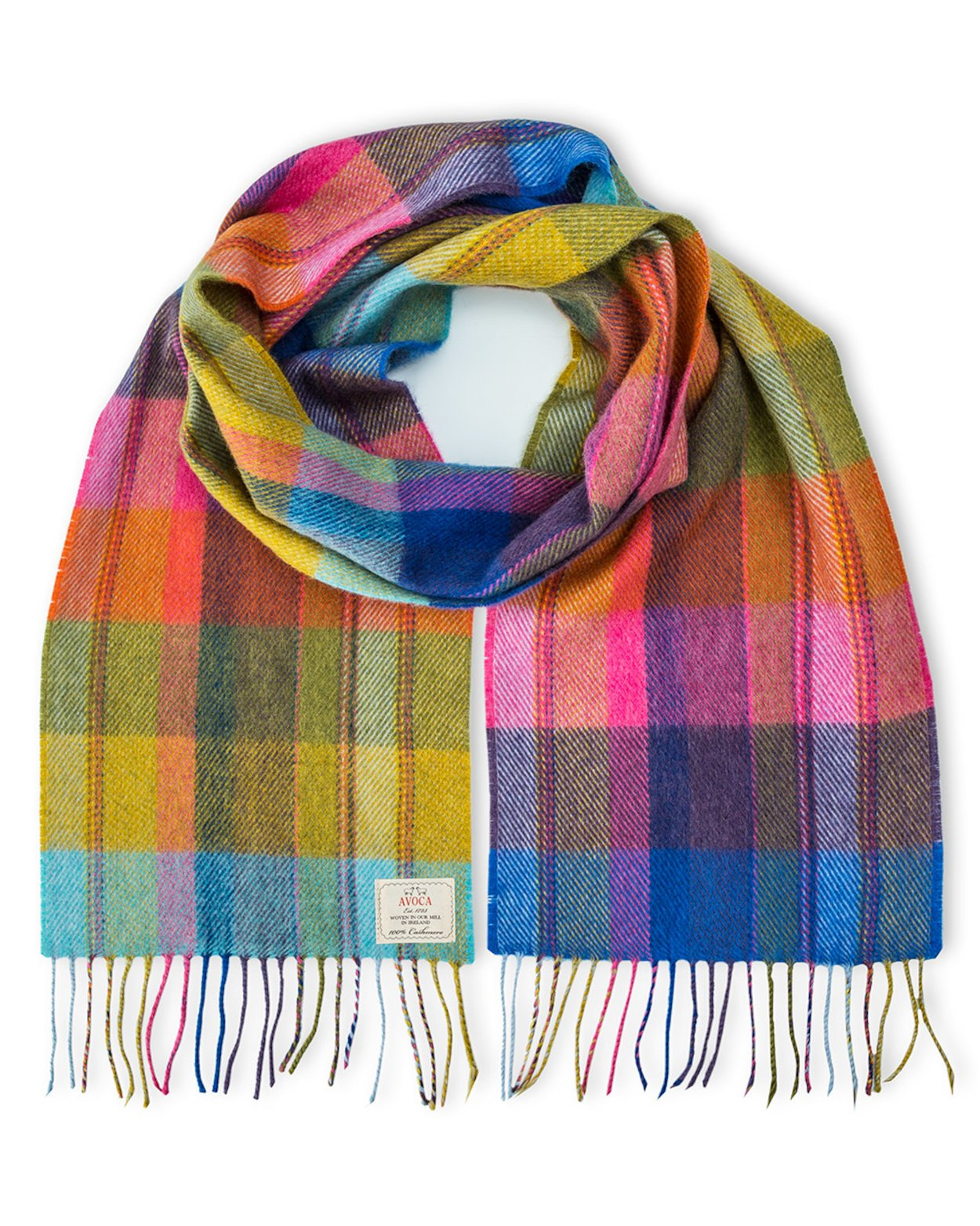 Avoca 100% Lambswool Scarf (Made in Ireland) Solstice design