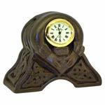 Turf sculpted Claddagh Celtic Irish Clock