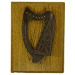 Irish Harp Turf Plaque
