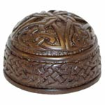 Black Celtic Paperweight - Irish Turf Sculpture