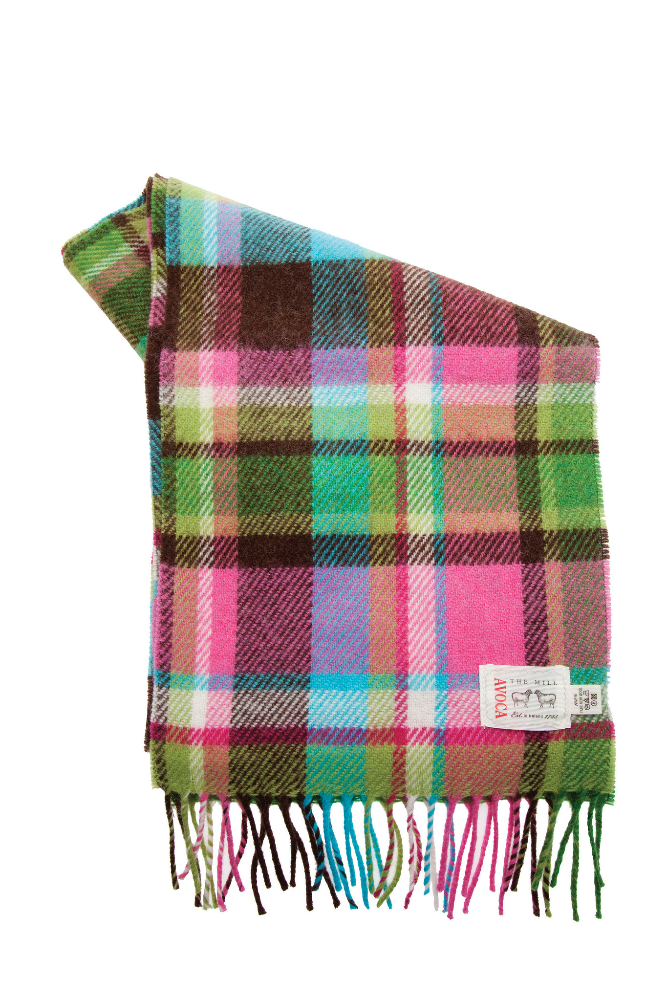 Avoca 100% Lambswool Scarf (Made in Ireland) CK1 design