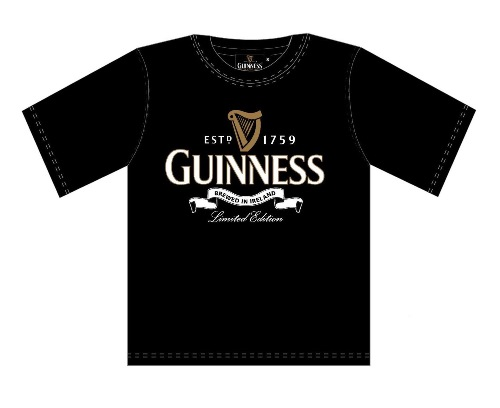 "Guinness ""Brewed in Ireland"" T Shirt (S-XXL)"