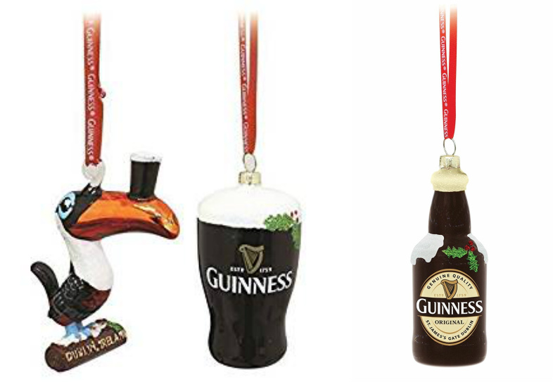 Guinness Christmas Decorations - Pack of 3