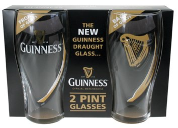 "Guinness ""Brand New"" Draft Pint Glasses (2 pack) - Click Image to Close"