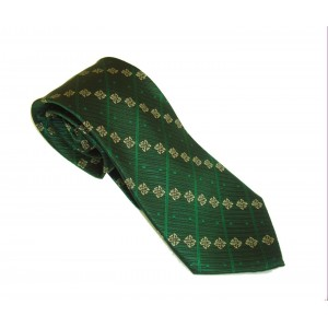 Green / Gold Knot Silk Patrick Francis Tie